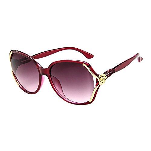 Transwen Gafas de sol retro unisex, elegantes, informales, redondas, vintage, unisex, redondas, para hombre y mujer, gafas de sol polarizadas