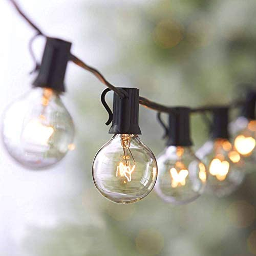 Bomcosy Outdoor String Lights 25Ft G40 Globe String Lights with 15pcs 5W Edison Bulbs 3 Spare product image
