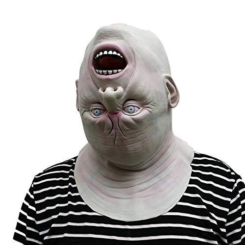 Morbuy Gruselig Halloween Maske, Neuheit Erwachsene Latex Horror Dämon Masken Perfekt für Fasching Karneval Kostüm Weihnachten Halloween Cosplay Kostüme Für Männer und Frauen (Ausländer)