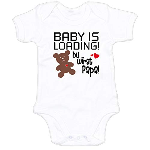 G-graphics Baby Body Baby is Loading! Du wirst Papa! 250.0654 (0-3 Monate, weiß)