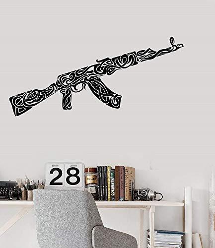 ASFGA Mode Vinyl Wandtattoo Muster Dekoration Aufkleber Raum Wanddekoration Spielzimmer Mosaik Pistole Kinderzimmer einzigartig 92x42cm