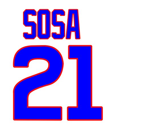 Sammy Sosa Chicago Cubs Jersey Number Kit, Authentic Home Jersey Any Name or Number Available