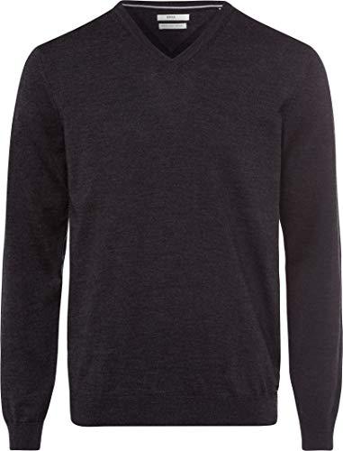 BRAX Herren Style Merino Wool V Kragen Pullover, Grau (SLATE), Medium (Herstellergröße: 50)