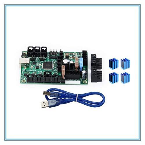 WNJ-TOOL, 1set Mini-Rambo 1.3a DC 10-28V avec Mainboard Câble USB for Prusa I3 MK2 MK2S imprimante 3D