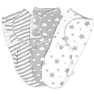Manta Envolvente para Bebés Recién Nacidos 0-3 Meses 100% Mantas de Algodón Orgánicas