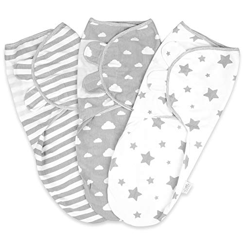 Baby Swaddle Wrap Newborn Blanket 0-3 Months 100% Organic Cotton Swaddles