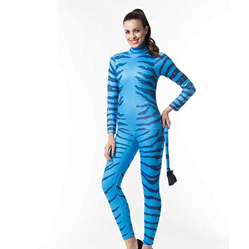 COOGG Divide Movie karakter Halloween kostuum paar Blue Zebra jumpsuit rollenspel kostuum kostuum