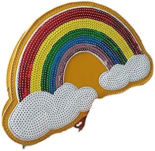 Rainbow Gradient Handbag with Cloud Sharp Clutch Evening Bags for Women Shoulder Bags
