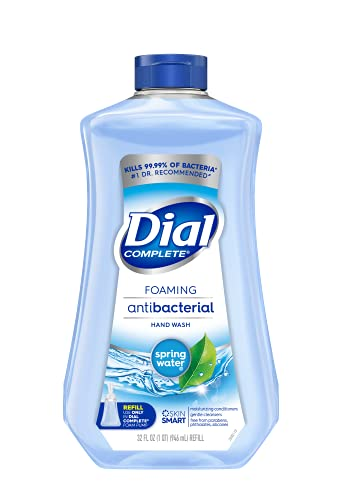 Dial Complete Antibacterial Foaming Hand Soap Refill, Spring Water, 32 Fluid Ounces