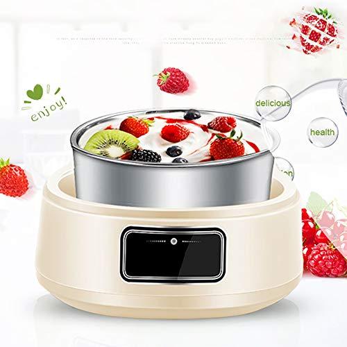 MEIMING Mini-Joghurtautomat 1L Multifunktionsjoghurt Für Zu Hause Präzise Temperaturregelung, Vier Keramik-Becher Cremefarben.