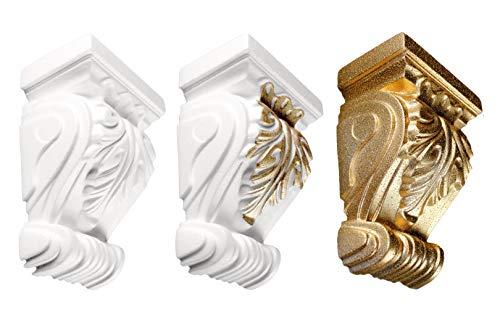 1 Konsole | Stuck | Dekorativ | EPS | Wand Dekor | super Gold | 11,5x16,5cm | K-02
