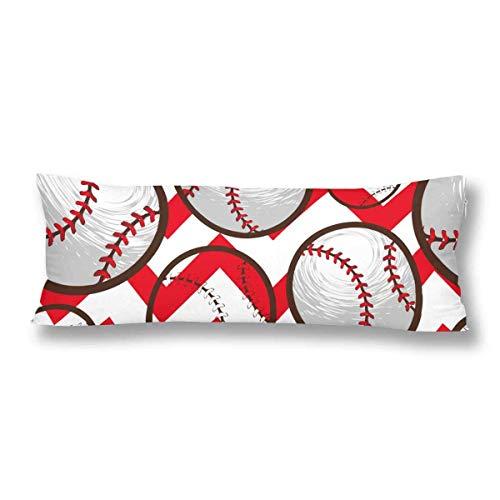 CiCiDi Seitenschläferkissen Kissen-Bezug 40x145 cm Baseball Cartoon Stil Atmungsaktives Kissenhüllen mit Reißverschluss Baumwollen und Polyester
