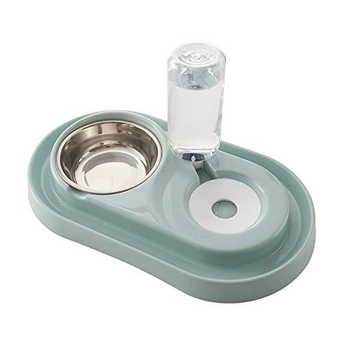 Kleine Haustiere Wasser- und Lebensmittelschalen Set Hunde Katzen Feeder Bowl und automatischer Wasser-Zufuhr Doppel-Fressnäpfe mit automatischem Waterer Flasche for kleine oder mittelgroße Hunde Katz