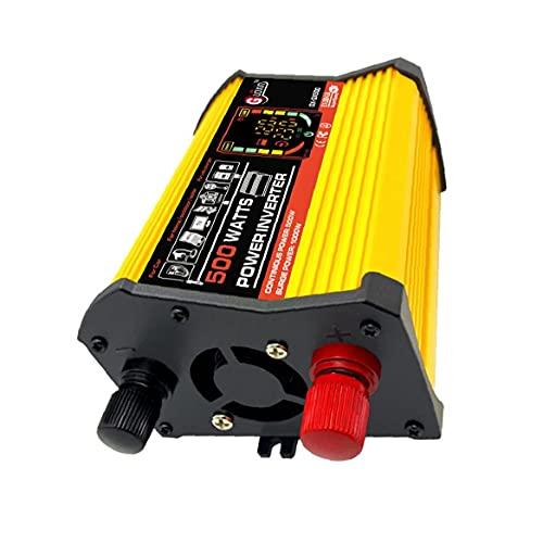 Power Inverter DC 12V a 220V AC convertidor de energía de onda sinusoidal pura del adaptador del cargador 500W inversor de la energía del coche, transmisor