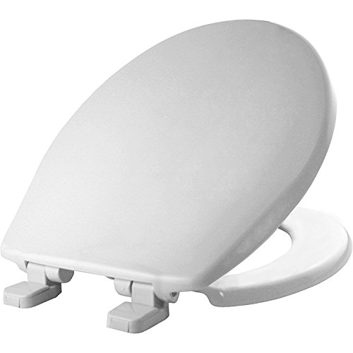 MAYFAIR 880SLOW 000 Caswell Toilet Seat will Slowly Close and Never Loosen, ROUND, Long Lasting Plastic, White