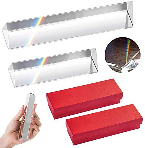 prisma fotografie glasprisma Fiyuer kristall optisches glas Dreieckiges Glas Prisma glasprisma dreieck für foto kristallprisma glasprismen für fotografie Längen 15cm,5cm mit Geschenkbox