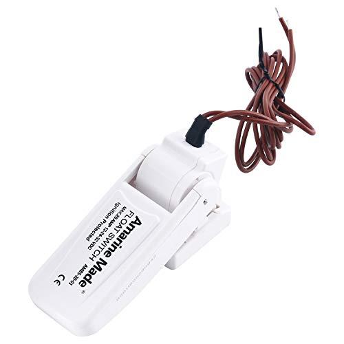 Amarine Made Bilgenpumpe Schwimmerschalter, automatisch, 12 V, 24 V oder 32 V, Feuchtigkeitsdichte Dichtungen Zündung geschützt für Boot, Yacht, Wohnwagen, Camping, Angelboot