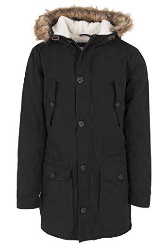 Urban Classics Jacke Sherpa Lined Parka Blouson Homme, Noir (Schwarz), (Taille Fabricant: Medium)