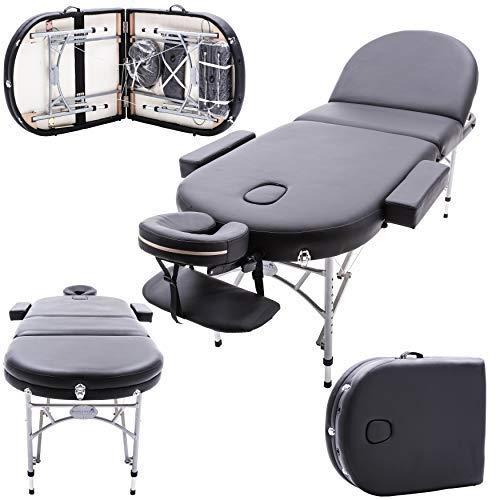 Massage Imperial® - tragbare Profi-Massageliege Consort/Chatsworth - Aluminium 14 kg- 7 cm Schaumstoff - schwarz