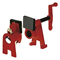 Bessey BPC-H12 Pipe Clamping Set, Black/Red