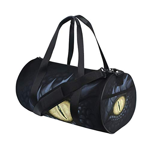 Dance Duffle Bag Dragon Eyes Trendy Marvellous Teen Girls Small Gym Sport Bag for Workout Weekend