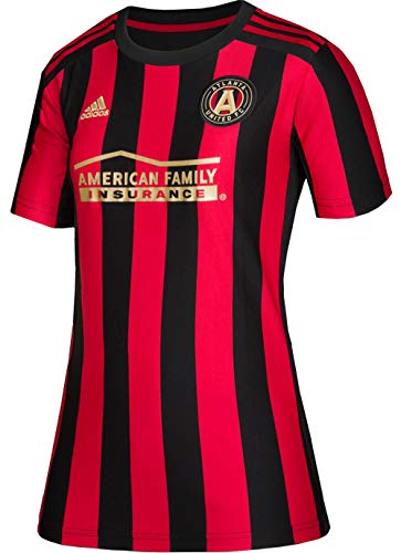 adidas 2019 Atlanta United Home Womens Replica Jersey, Black/Victory Red, XX-Large
