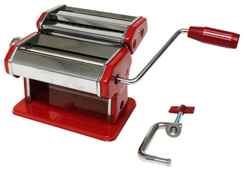 Metro Fulfillment House Italian Style Pasta Maker, Red Finish
