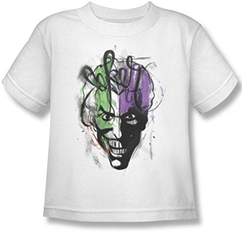 Batman - Joker Airbrush Juvy T-Shirt in Weiß, Large (7), White