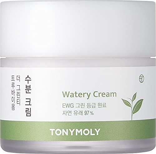 Tony Moly - The Green True Biome Watery Cream, Crema Hidratante Con Té Verde, 80ml