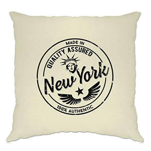 Tim and Ted Fierté Ville Natale Housse de Coussin Made in New York, Stamp Natural One Size