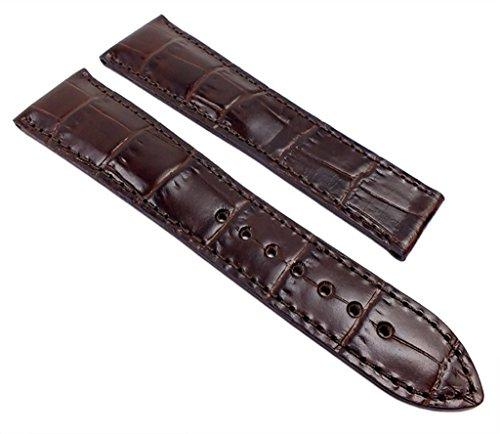 Maurice Lacroix Pontos Ersatzband Uhrarmband Leder Lousiana-Kroko-Optik Dunkelbraun 21992F, Anstoß:20 mm