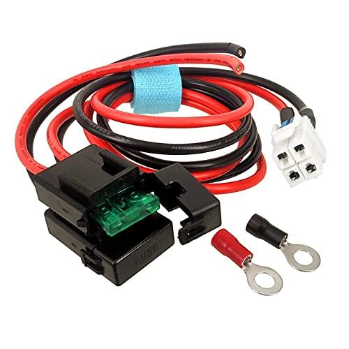 HANLILI kasu Cable de Cable de alimentación de Radio de 4 Pines Ajuste para Kenwood TS-480HX TS-590S Yaesu FT-450 FT-991 FT-2000 ICOM IC-7000 IC-7600 Walkie Talkie