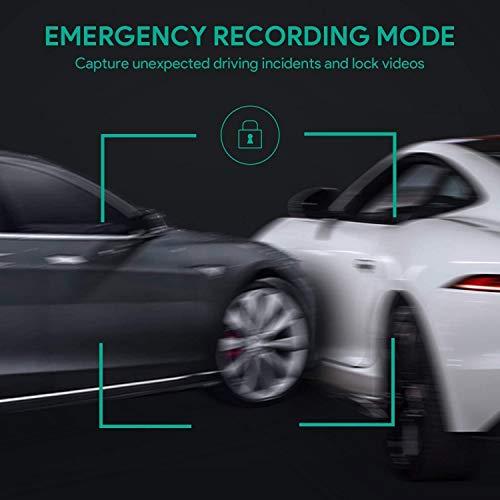 AUKEY 1080p Dashcam Vorne und Hinten【Verbesserter Sensor】Autokamera mit 170 Grad Weitwinkel, Superkondensator, WDR Nachtsicht Kamera für Auto mit G-Sensor, Bewegungserkennung, Loop-Aufnahme - 6