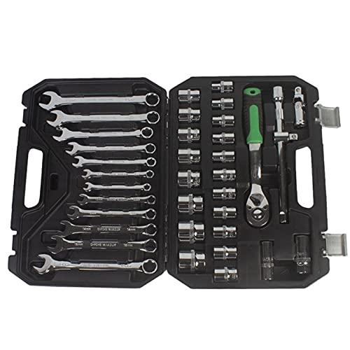 1/2 37pcs conjunto de herramientas de conjunto de socket para reparación de automóviles Herramienta de herramientas de mecánico con caja de herramientas Enchufes de platillo Transportantes Llave de ll