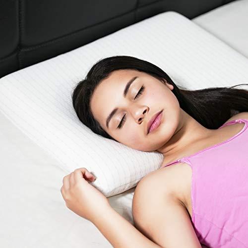 Memory Foam Kissen 40x60 cm Flaches Kissen für Mädchen, Nackenstützkissen Schlafkissen für Studenten