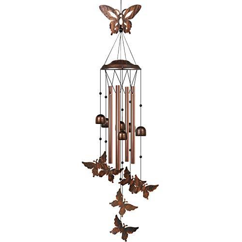 HANGOU Schmetterling Windspiele Garten Windspiele für die Inneneinrichtung im Freien Geeignet für die Hausgartendekoration, mit Haken