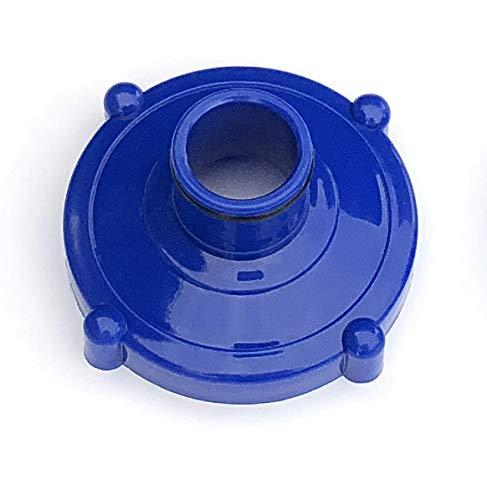Algenschnapper Adapter für Bodensauger, Schraubanschluss 80 mm auf Schlauchanschluss 32 mm, blau