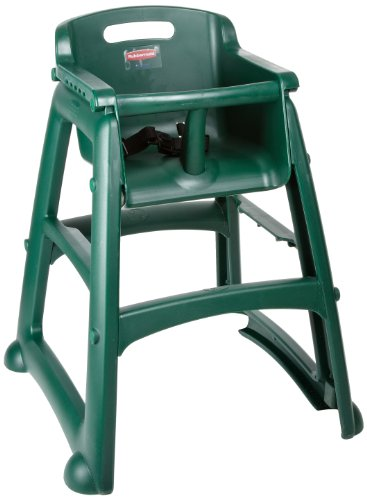 Rubbermaid Commercial Products Sturdy High-Chair for Child/Baby/Toddler, Pre-Assembled, Dark Green (FG780608DGRN)