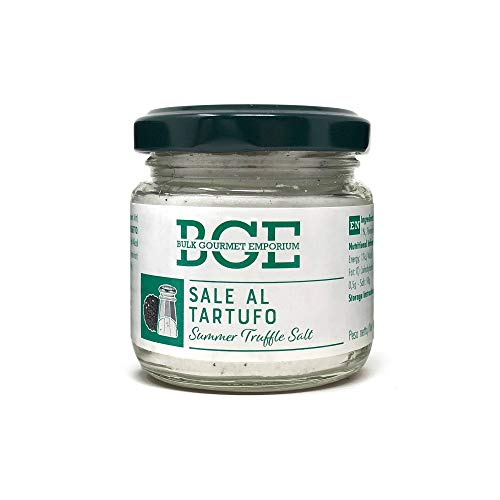 Bulk Gourmet Emporium - Sal con trufa de verano en frascos de vidrio, 3 x 110 g (330 g en total)
