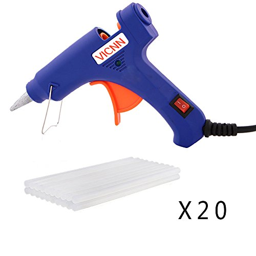 Hot Glue Gun, Mini Hot Melt Glue Gun Rapid Heating Technology Hot Glue Gun with 20pcs Glue Sticks High Temperature Melting Glue Gun Kit Flexible Trigger for DIY Small Craft Projects&Sealing and Quick