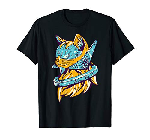 Cyberpunk Futuristic Cat Art Streetwear Fashion Graphic T-Shirt