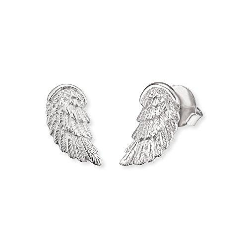 Engelsrufer Flügel Ohrstecker für Damen 925er-Sterlingsilber Größe 20 mm