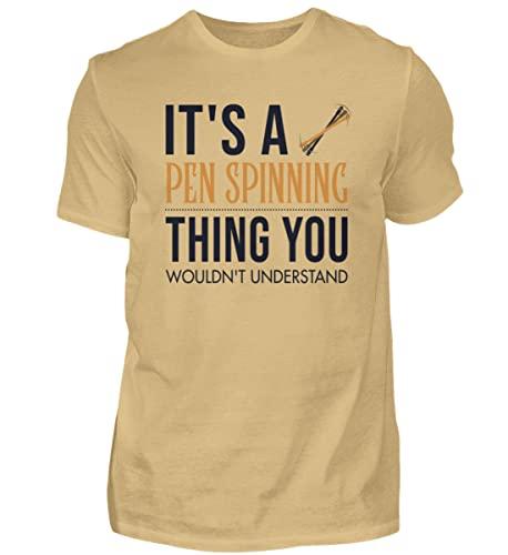 Pentricks Thumbaround - Camiseta para hombre con texto 'It's a Pen Spinning Thing', Amarillo (arena)., XXXXXL