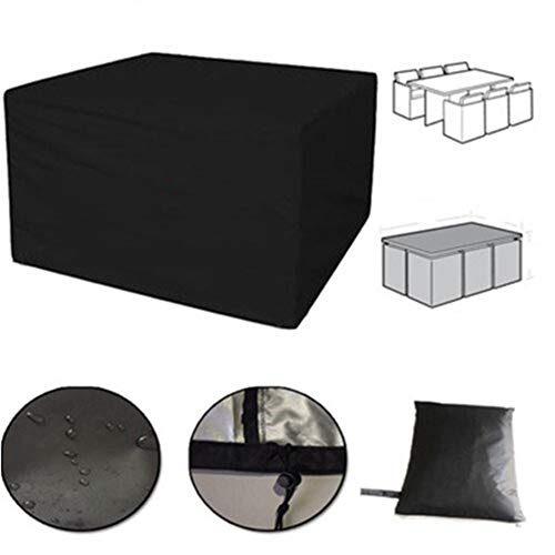 GHHQQZ - Jardín Funda Muebles Impermeable Durable Anti-envejecimiento Proteccion Columpio Mesa Café Muebles Ratán, Negro, Personalizable (Color : Negro, Size : 120x100x80cm)