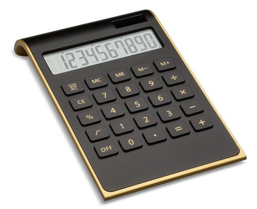edles Tischrechner im gold-schwarzen...
