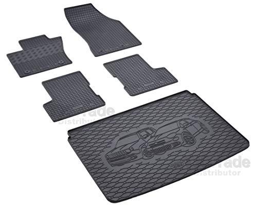 Passende Gummimatten und Kofferraumwanne Set geeignet für Jeep Renegade ab 2014 + Gurtschoner