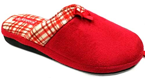 de fonseca Ciabatte Pantofole Invernali da Donna MOD. Verona W213 Rosso (38 EU)