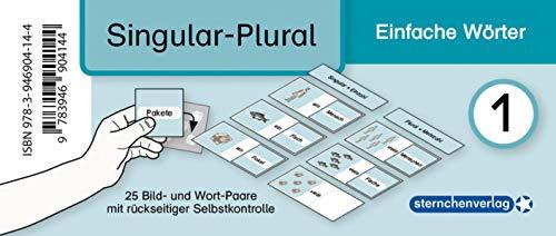 Meine Grammatikdose 1 - Singular-Plural - Einfache Wörter: 25 Bild- und Wort-Paare mit rückseitiger Selbstkontrolle in der Box
