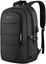 Travel Laptop Backpack, Anti Theft Business Laptop Backpack with USB Charging Port and Headphone Interface fits Under 17.3
