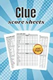 Clue score sheets: 100 Clue Board Game Sheets, Clue Replacement Pads, Cluedo Detective Notes